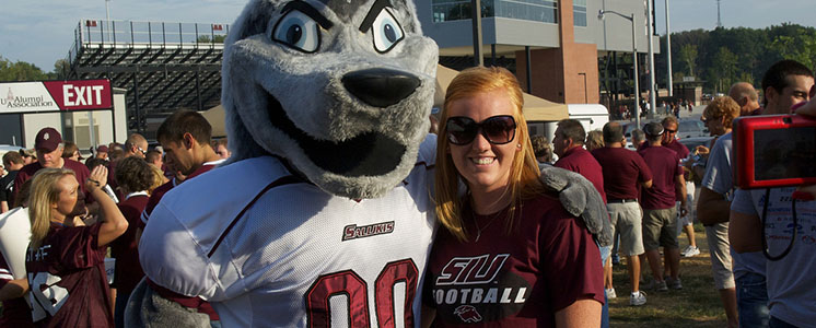 Grey Dawg and saluki fan